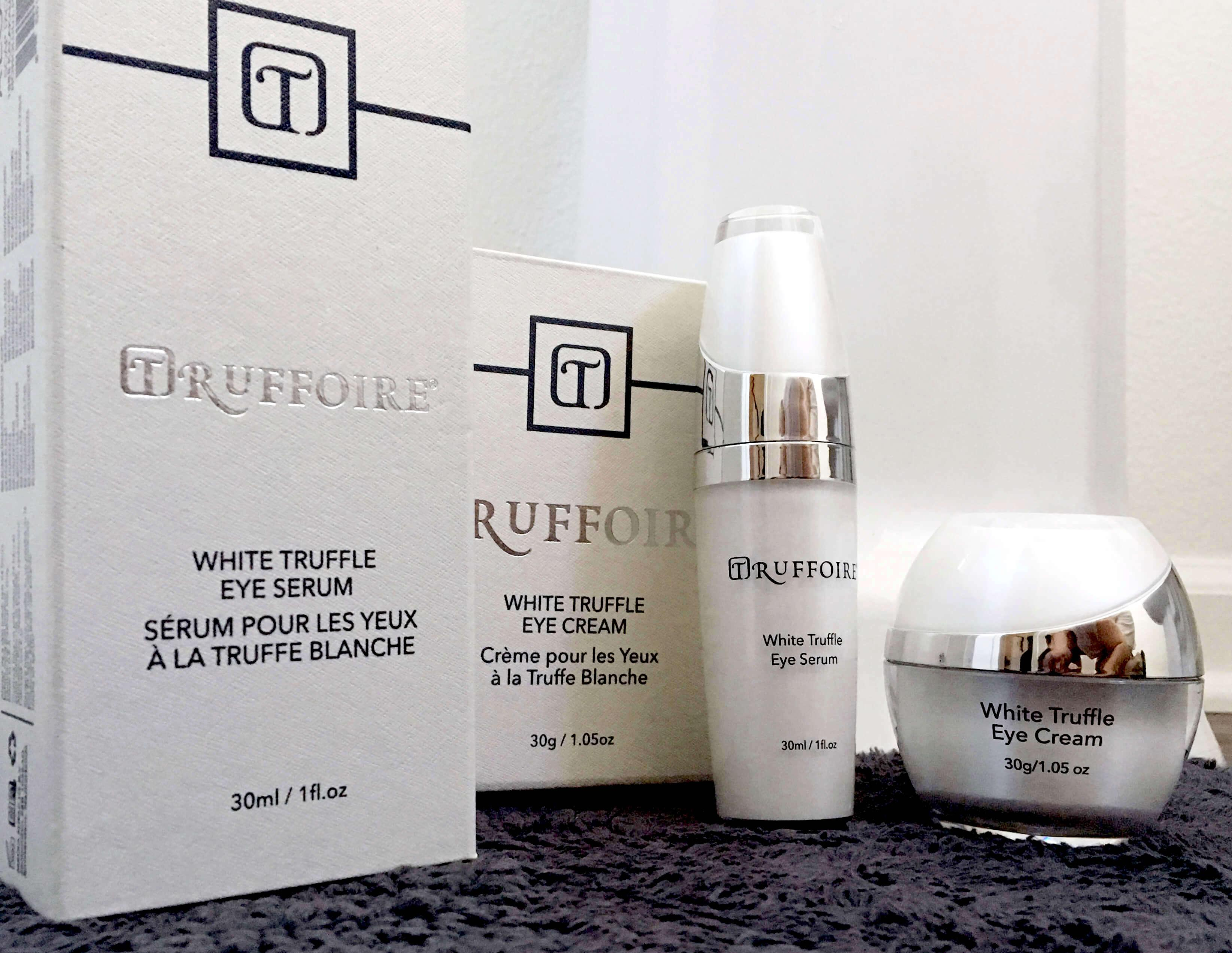 Truffoire White Truffle eye serum and cream.