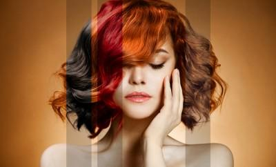 Woman with multiple colors in hair