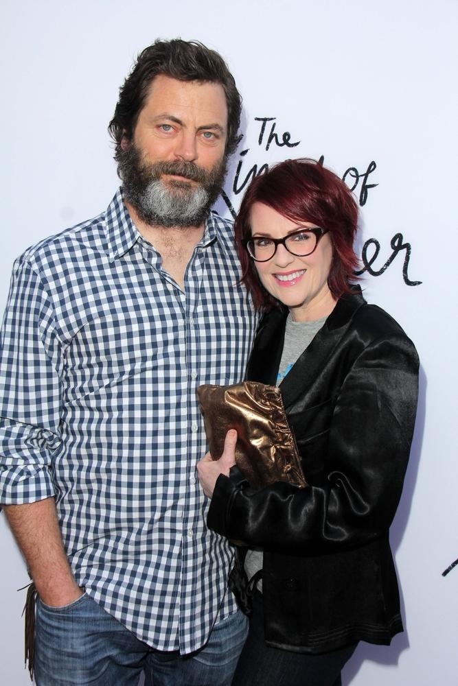 Nick Offerman and Megan Mullaly
