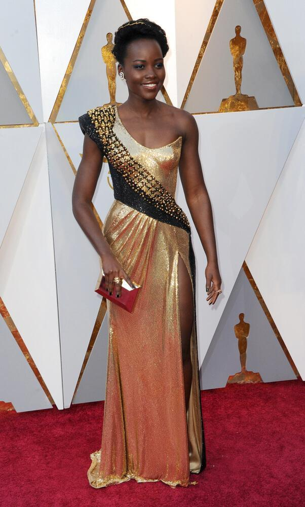Lupita Nyong'o at the Oscars 2018