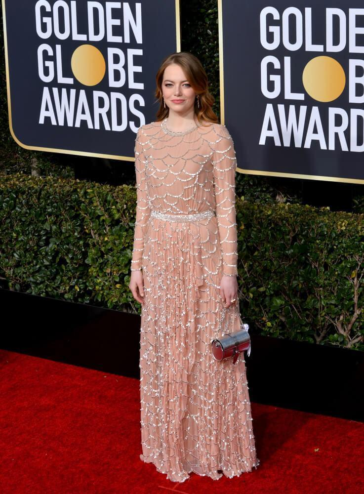 LOS ANGELES, CA. January 06, 2019: Emma Stone at the 2019 Golden Globe Awards at the Beverly Hilton Hotel.