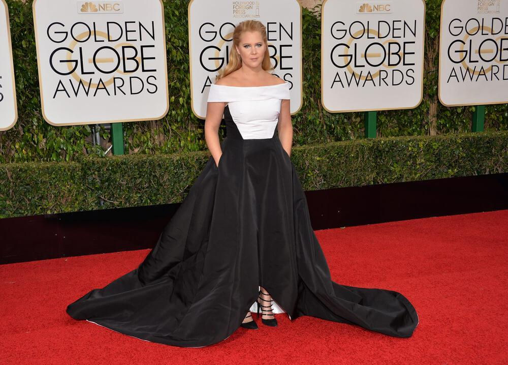 Amy Schumer at the Golden Globe Awards