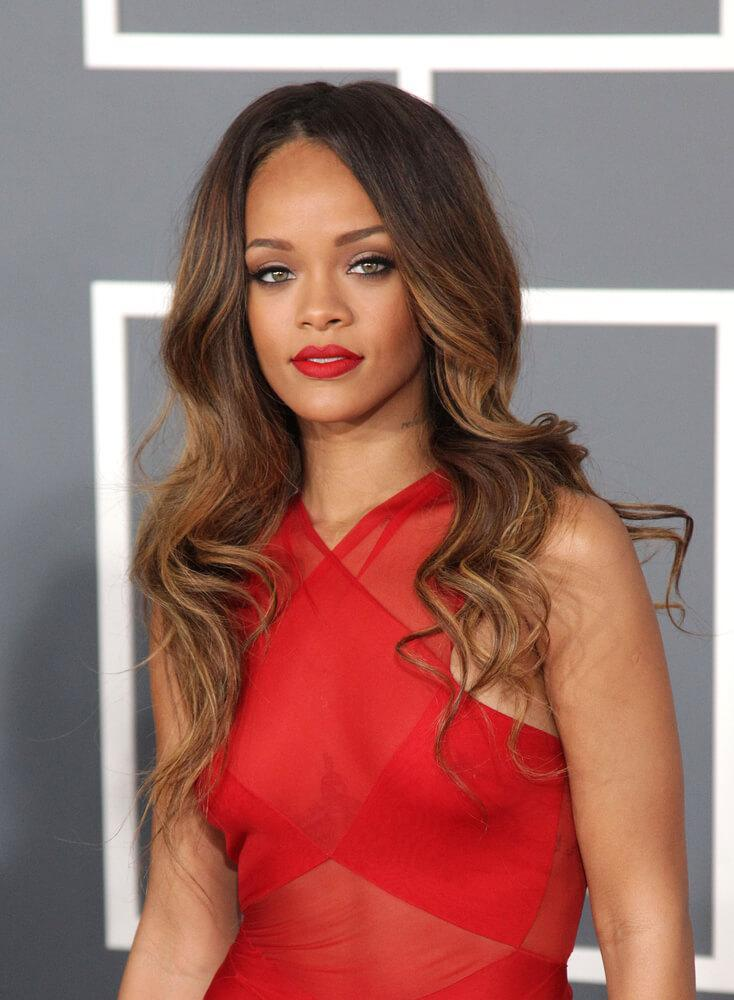 Rihanna soft ombre waves