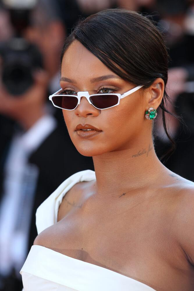 Rihanna sleek updo