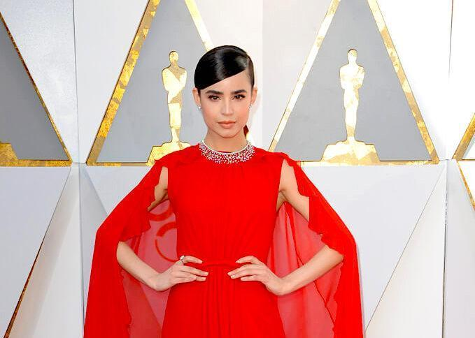Sofia Carson at the 90th Academy Awards