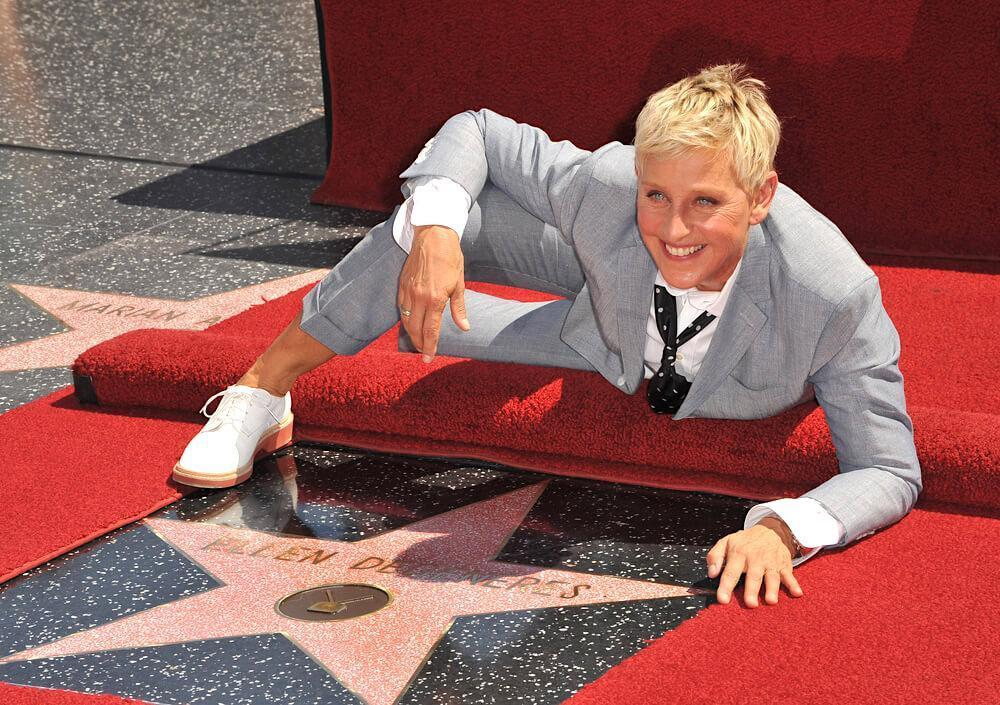 Ellen DeGeneres on Hollywood Blvd where she was honored with the 2,477th star on the Hollywood Walk of Fame. September 4, 2012 Los Angeles, CA