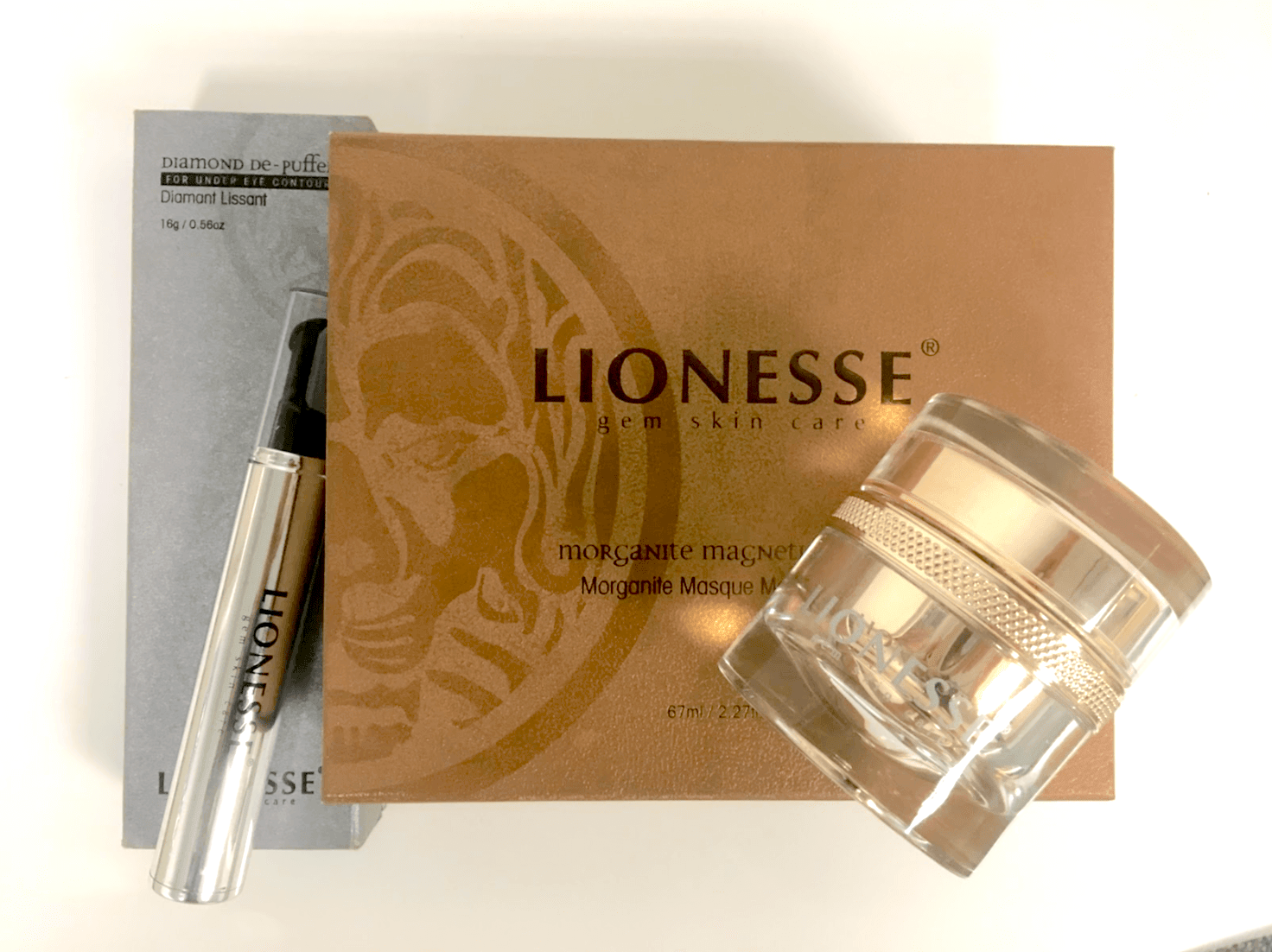 Lionesse Morganite Magnetic Mask and Diamond De-Puffer review