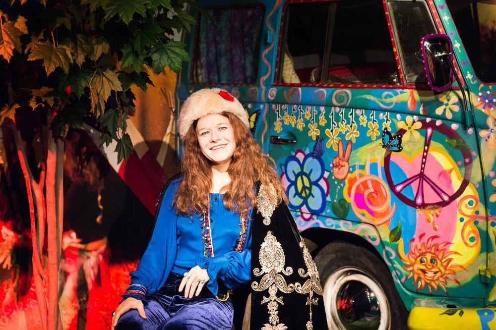 Janis Joplin at the Madame Tussauds museum in San Francisco