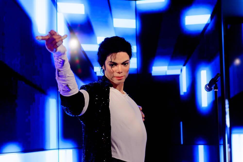 BERLIN, GERMANY - OCT 1, 2017: Michael Jackson, King of pop, Madame Tussauds Berlin wax museum.