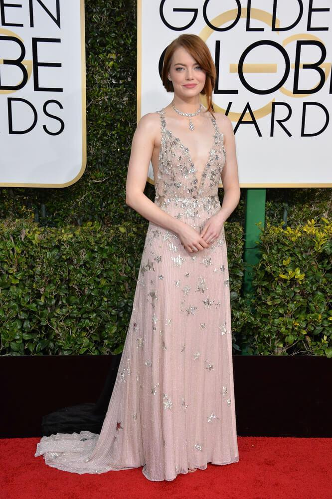 LOS ANGELES, CA - JANUARY 8, 2017: Emma Stone at the 74th Golden Globe Awards at The Beverly Hilton Hotel, Los Angeles