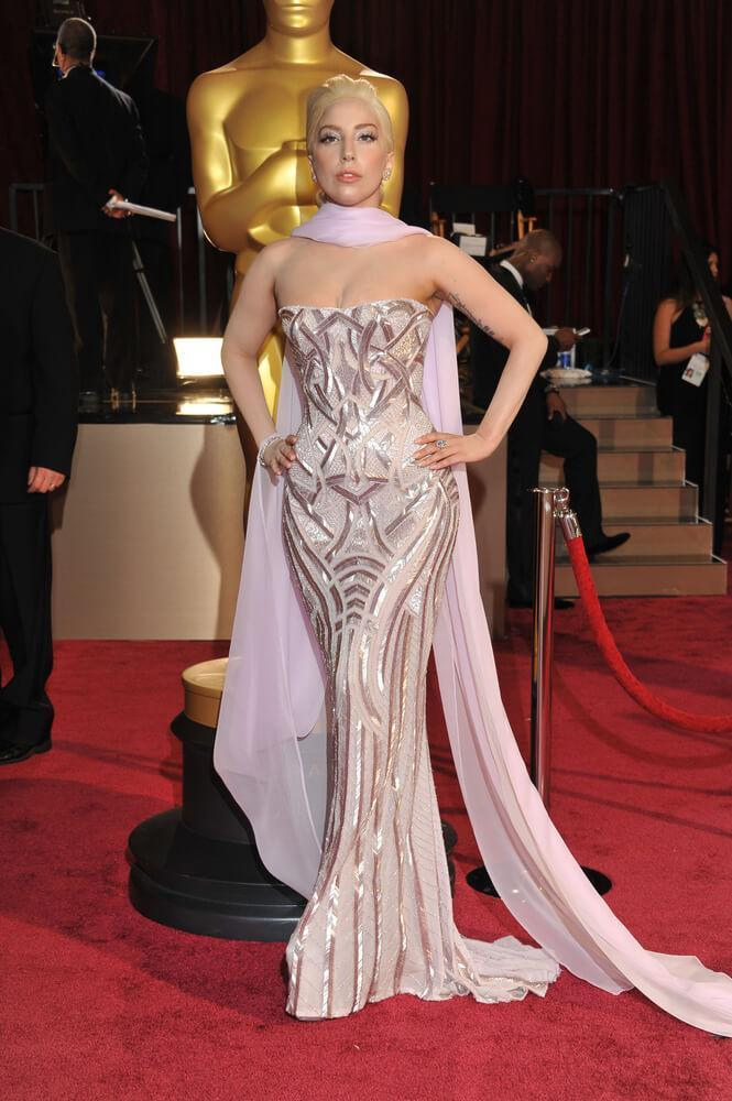 LOS ANGELES, CA - MARCH 2, 2014: Lady Gaga at the 86th Annual Academy Awards at the Hollywood & Highland Theatre, Hollywood.