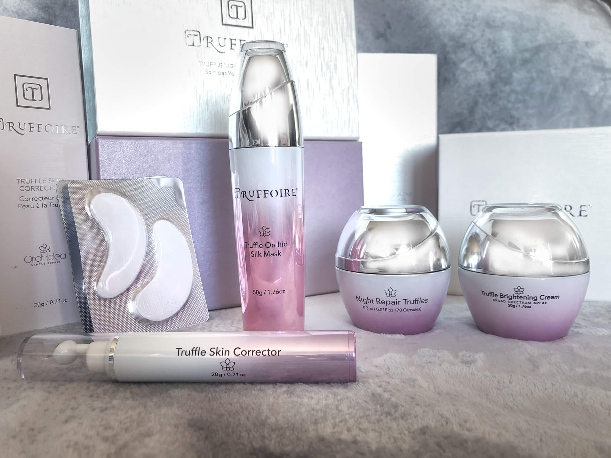 Truffoire skincare products