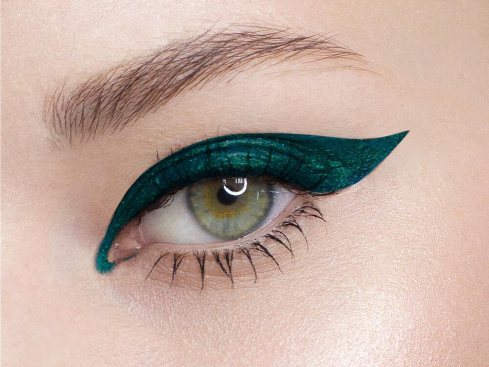Eye with bold eyeliner