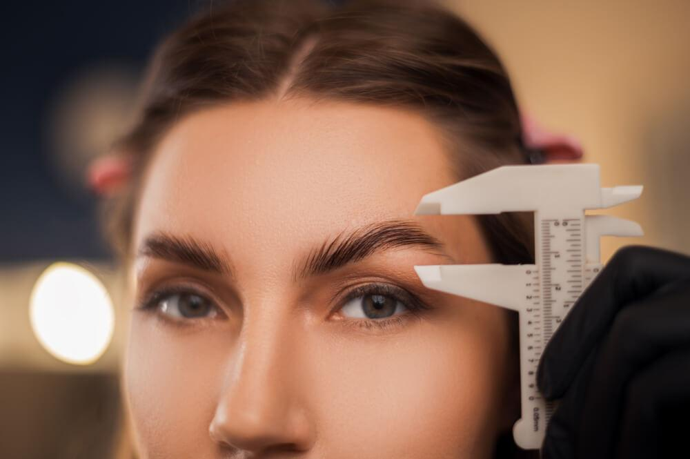 Woman with laminated brows